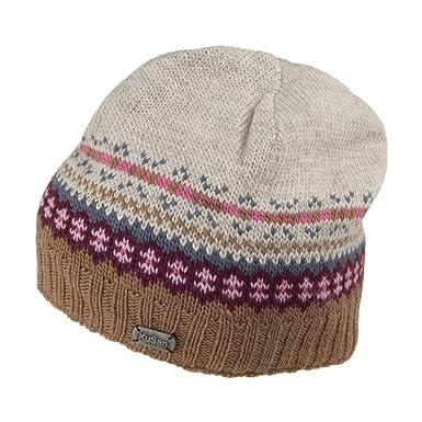 8f44ee72ee0ae7 Kusan Hats Fine Gauge Fairisle Beanie Hat - Toffee 1-Size: Amazon.co.uk:  Clothing
