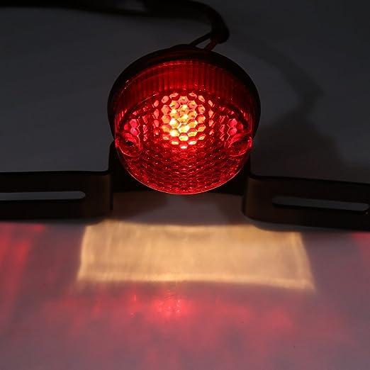 Amazon.com: eDealMax Cola Red bombilla de luz de Freno de parada w soporte de matrícula Para la motocicleta de la Moto: Automotive
