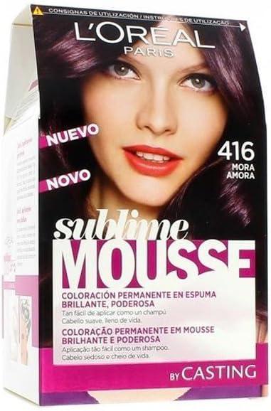 LOreal sublime Mousse Coloración Permanente en Espuma, 416 Mora - 140 ml