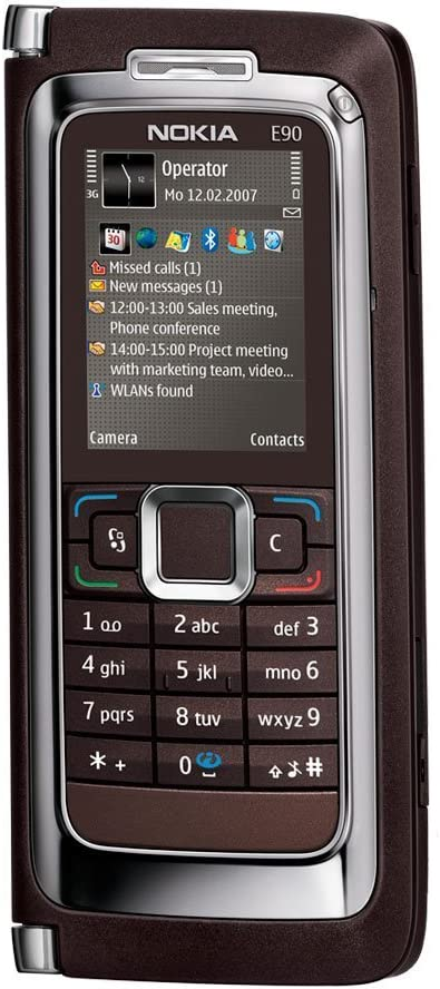 B000PH9NNS Nokia E90 Communicator Unlocked Phone with 3.2 MP Camera, 3G, Wi-Fi, GPS, Media Player, and MicroSD Slot--U.S. Version with Warranty (Mocha) 6164o3l3iaS.SL1000_