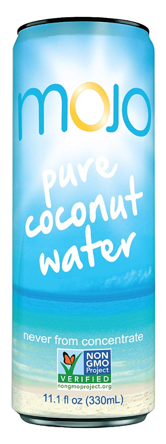 MOJO Pure Coconut Water (Pack of 12) (24 Packs)