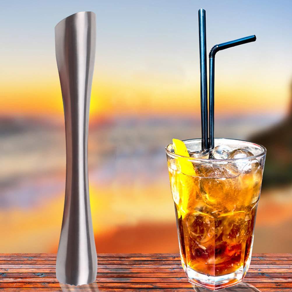 Silver BESTONZON Outil de Barman Professionnel de Pilon /à Boissons en Acier Inoxydable