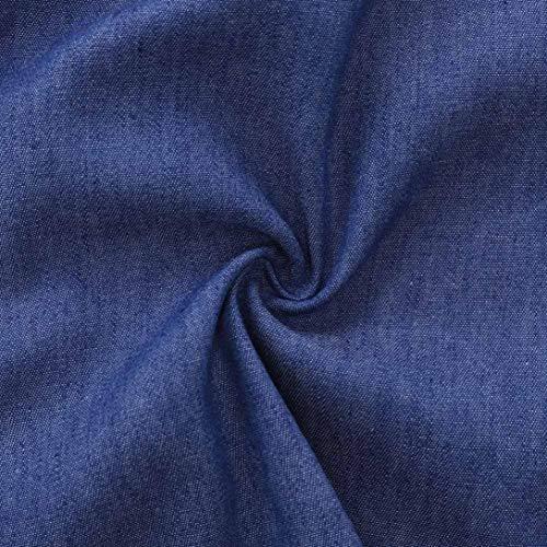 t Femme Poche ZzZz Mode 2018 Hiver Denim Bleu Printemps Femmes lgant Jolie Profond Solide Manchettes Manches Nouvelle Blouse Manches Confortable Mode Automne Longues Bandage rEdAdn