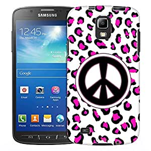 Samsung Galaxy S4 Active Case, Slim Fit Snap On Cover by Trek Peace Pink Leopard Case