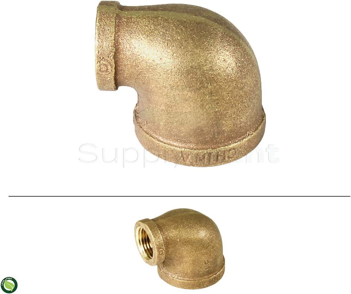 Brass Construction Higher Corrosion Resistance Economical /& Easy to Install SUPPLY GIANT CSSM3344 1-1//2-Inch x 3//4-Inch Lead Free 90-Degree Brass Reducing Elbow with Female Threaded Ends