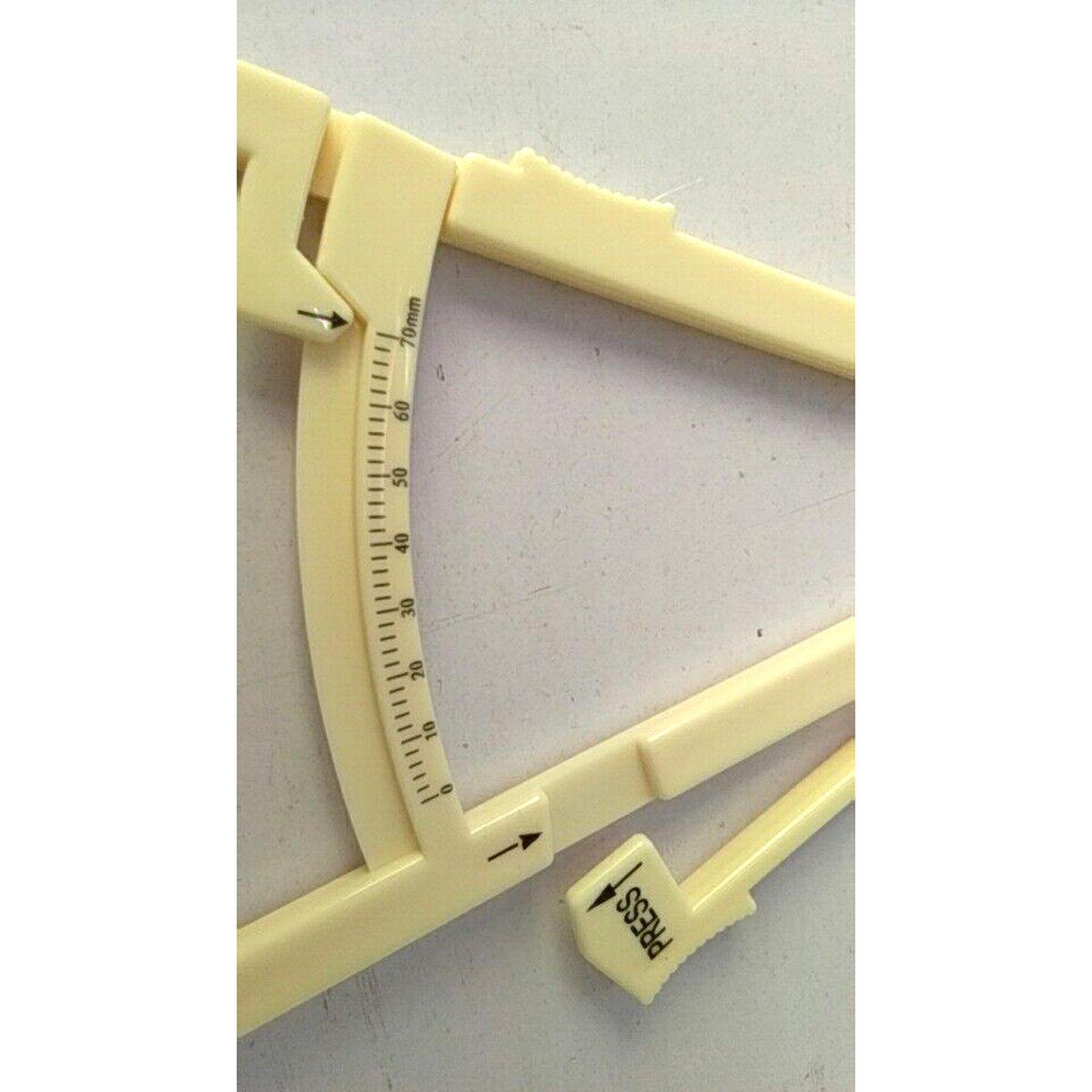 ROSENICE Body Fat Tester Analyzer Fat Measuring Clamp Fat Caliper White