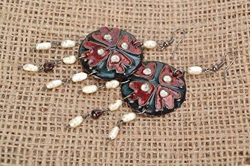 Copper Earrings With Enamel
