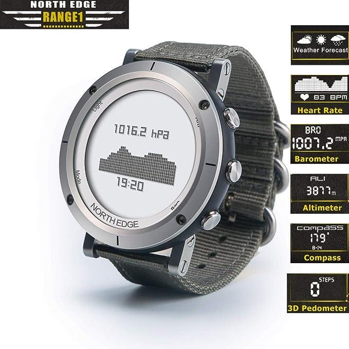 Reloj Inteligente Para Deportes Extremos Al Aire Libre, Profundidad Impermeable De 50 M, Altura, Presión Del Aire, Temperatura, Reloj De Monitoreo Del Ritmo ...