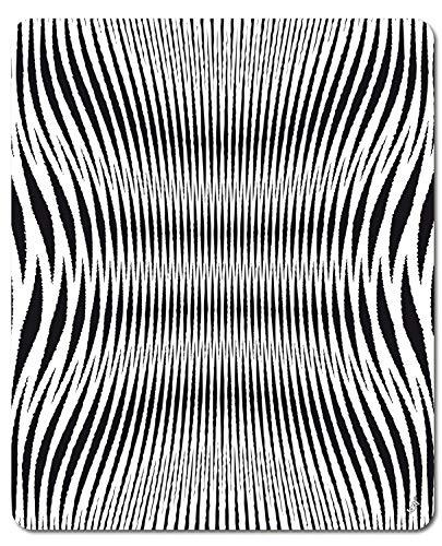 Illusioni Ottiche Disegno Geometrico In Nero E Bianco Tappetino