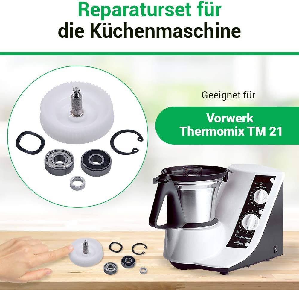 Piezas de repuesto para Thermomix TM21 Lagersatz Zahnrad TM 21: Amazon.es: Hogar