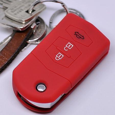 Soft Case Silikon 3 Tasten Auto Klapp Schlüssel Schutz Elektronik