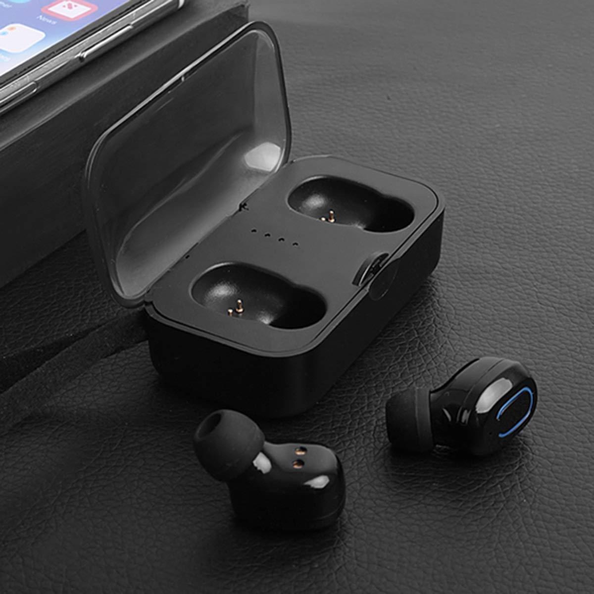Jinxuny ワイヤレスヘッドフォン イヤホン 5.0 Bluetoothイヤホン TWS ワイヤレス 5.0 イヤホン タッチコントロールヘッドセット 充電ボックス付き ブラック ブラック ブラック B07R7WKT11, こめの里本舗:49038d1e --- verkokajak.se