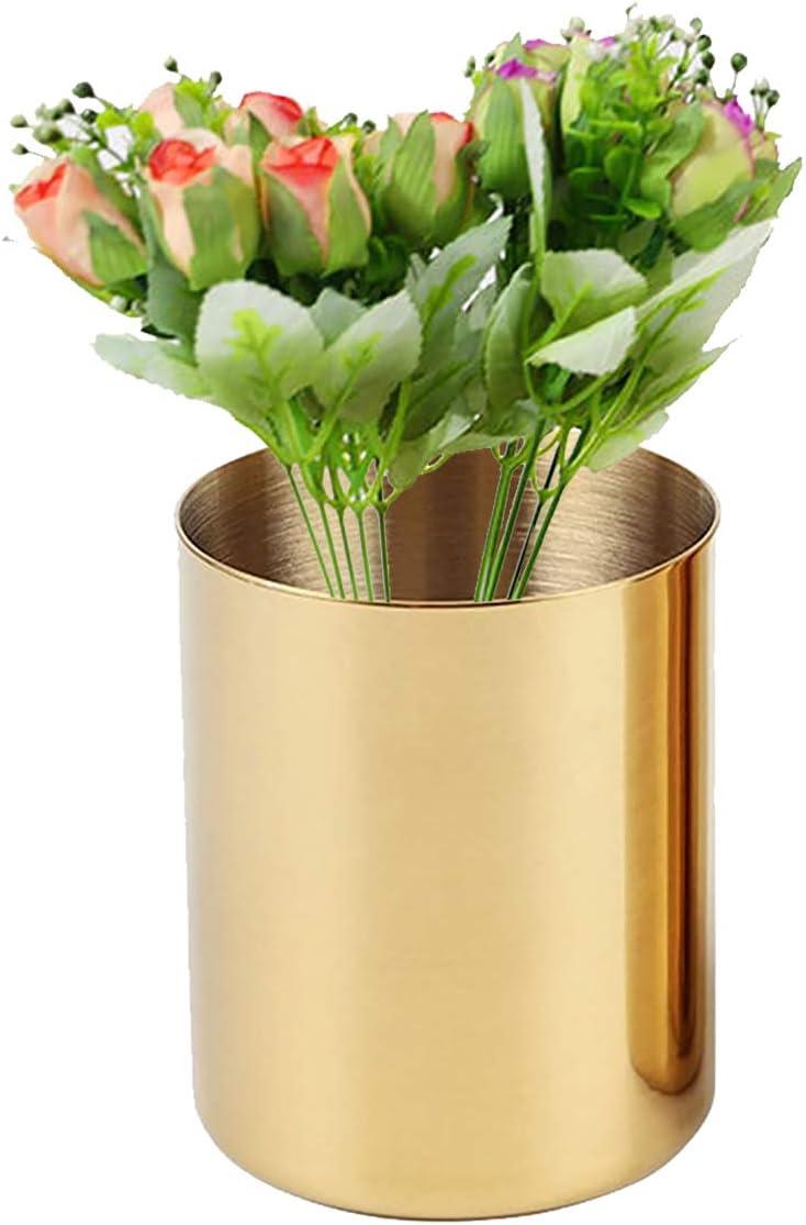 oro in acciaio inox vasi da fiori portapenne da scrivania cancelleria da tavolo portapenne dorate Portapenne da scrivania I3C porta pennelli da trucco