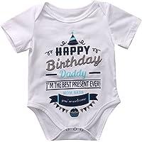 Kleinkind Neugeborenes Baby Frühling Sommer Einteilige Kurzarm Baumwolle Outfit Strampler für den Vatertag 0-18 Monate