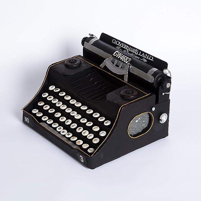 Kaige Adornos de escritorio Máquina de escribir antigua Vintage modelo negro decoración hogar Bar café adornos 33 * 25 * 18 cm: Amazon.es: Hogar