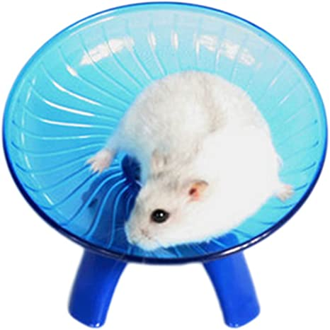 Namgiy Hamster Plato volador de juguete para animales peque/ños color azul pl/ástico, 17,8 cm