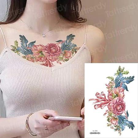 Handaxian 3 Piezas Tatuaje de Encaje Negro Tatuaje Impermeable ...