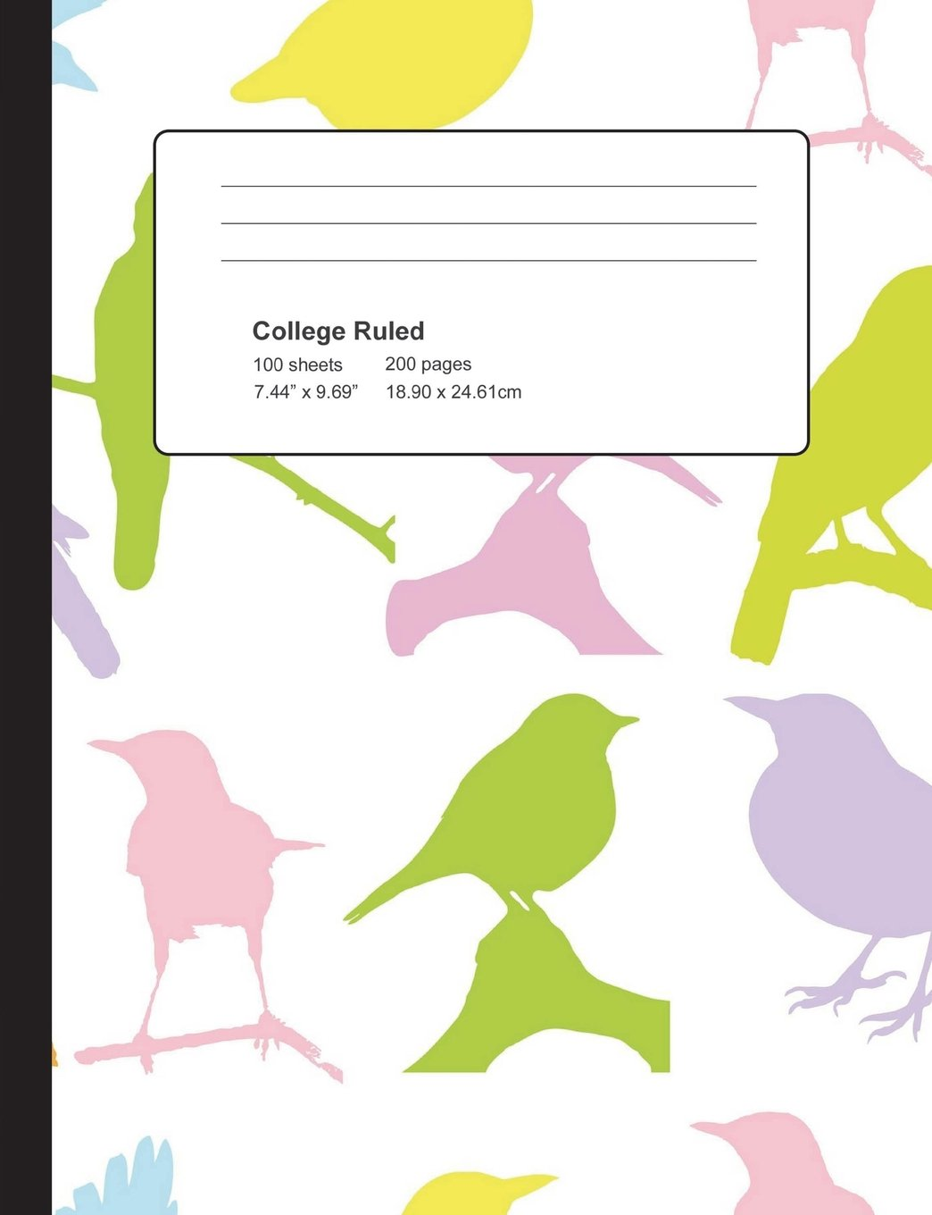 Download Colorful Birds Composition Notebook: Composition Book, Journal, Cute Notebooks, Cool Notebooks, School Books (7.44 x 9.69) Large, Composition Notebook College Ruled Paper, 100 Sheets PDF