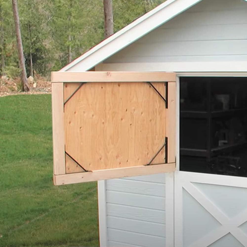 Wood Windows Gate Corner Brace Bracket with Hinge Kit for Shed Doors Corral Gates Driveway Gates