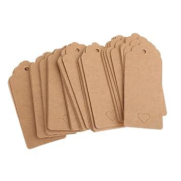 Amazon.com: 100 unidades) Vintage papel de Kraft café en ...