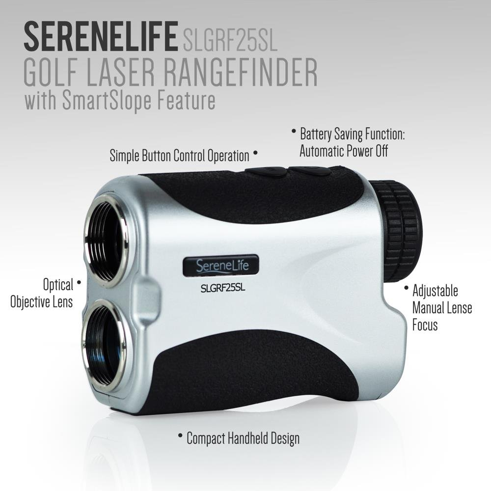 SereneLife Premium Slope Golf Laser Rangefinder with Pinsensor - Digital Golf Distance Meter - Compact Design -With Case by SereneLife (Image #2)