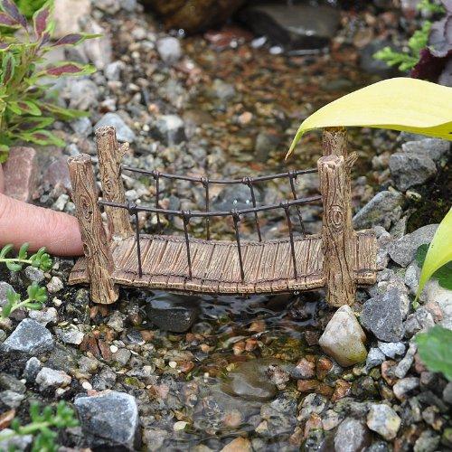 1 X Miniature Fairy Garden Suspension Bridge