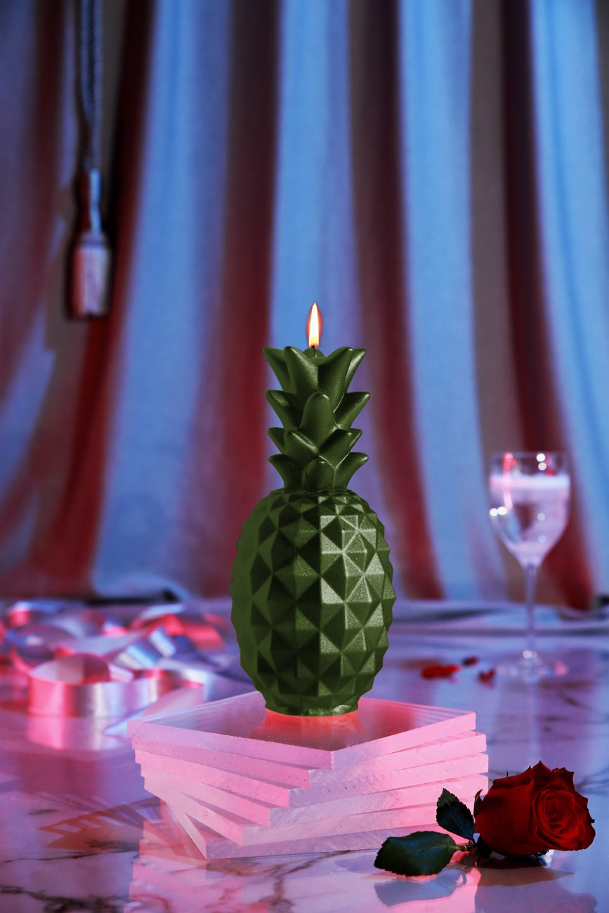 Candellana Candles Candellana- Pineapple Candle Dark Green by Candellana Candles (Image #1)