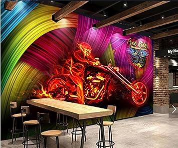 Yosot 3d Bunte Coole Motorrad Bars Nachtclubs Wand Hintergrund