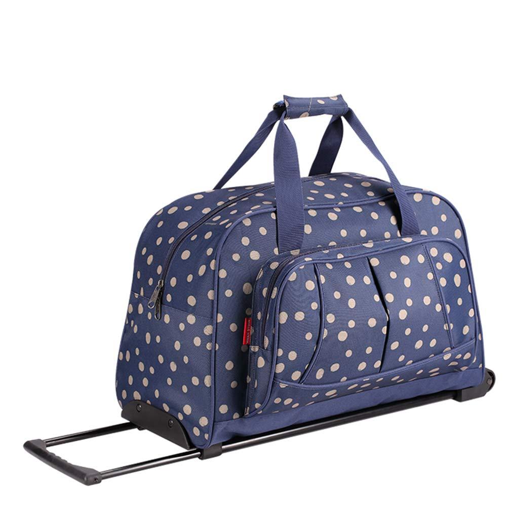 YANJINGHONG 荷物 ローリング トロリー バッグ 短距離旅行 女性 ボーディング 旅行 大容量 ダッフルバッグ 軽量 ポータブル 旅行 防水   B07LCNBNDM