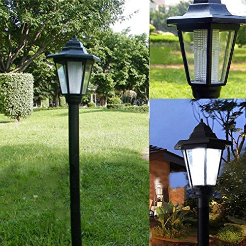 ss Outdoor Solar Power LED Path Way Wall Landscape Mount Garden Fence Lamp Light