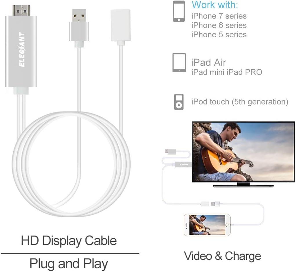 Adaptador HDMI de IOS ELEGIANT para AV TV HDTV: Amazon.es: Informática