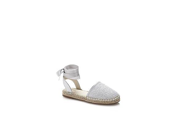 Guess - Alpargatas de Piel para Niña * Plateado Size: 28 EU: MainApps: Amazon.es: Zapatos y complementos