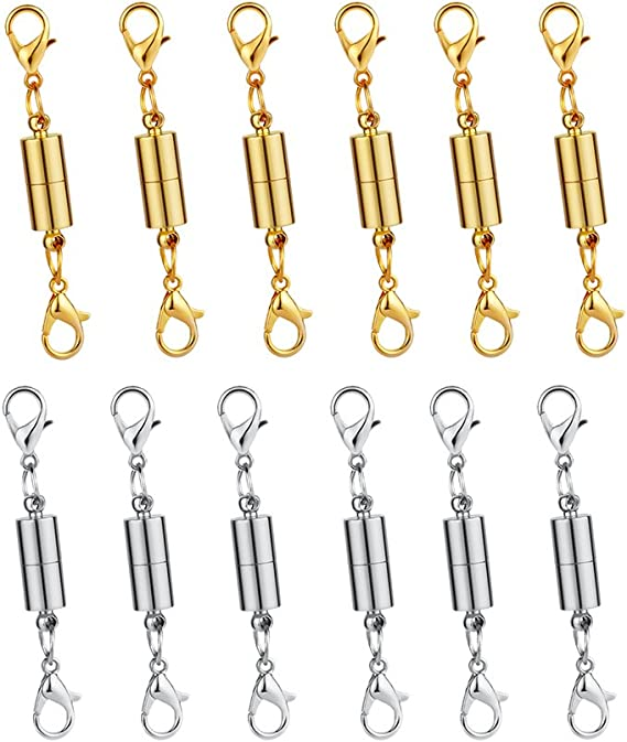 Dsmile 12Pcs Magnetic Lobster Clasps Perfect for Jewelry Necklace Bracelet