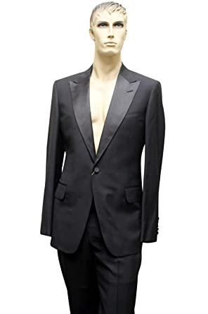 e4c8ae0d3 Image Unavailable. Image not available for. Color: Gucci Tuxedo Black Wool  Suits ...