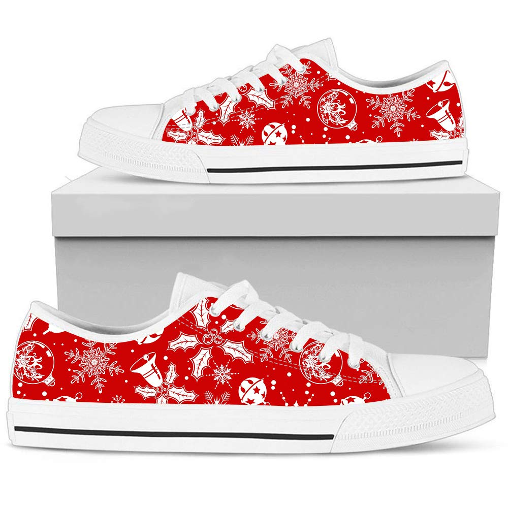 Christmas Sneakers.Amazon Com Hand Painted Printed Canvas Shoe Red Christmas