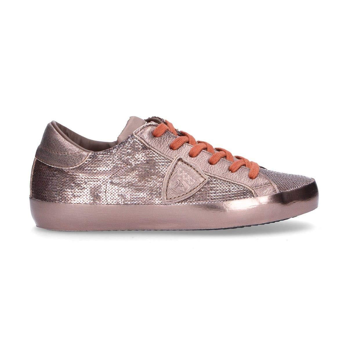 - PHILIPPE MODEL Women's CELDLP83 Bronze Sequins Sneakers