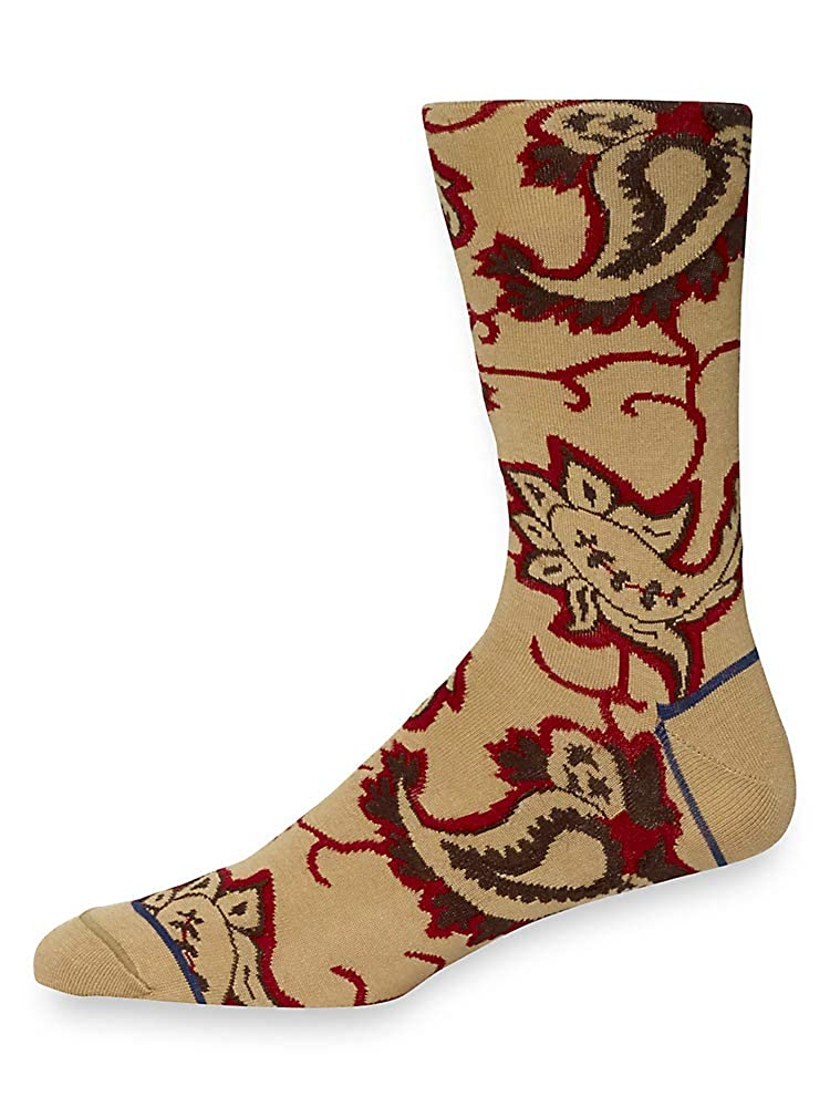Paul Fredrick Mens Abstract Paisley Pima Cotton Dress Socks