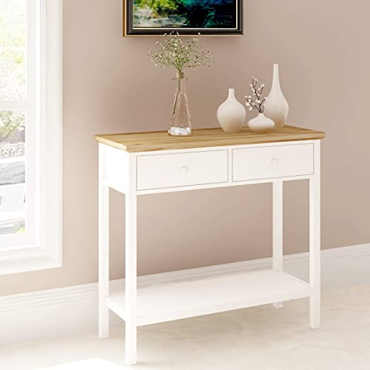 Color blanco mesa consola 820 x 325 x 760 mm impresionante cocina ...