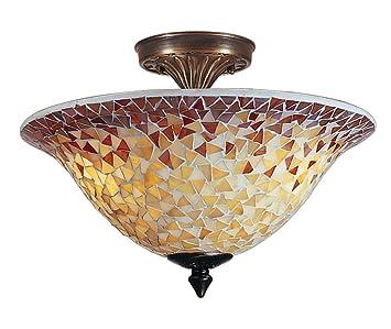 Dale Tiffany TM100552 Cassidy Mosaic Flush Mount Light Fixture Antique Brass  sc 1 st  Amazon.com & Dale Tiffany TM100552 Cassidy Mosaic Flush Mount Light Fixture ... azcodes.com