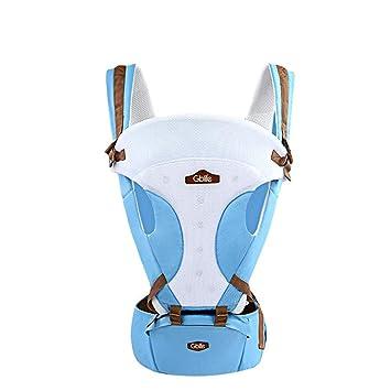 0b7343f95577 GBlife Porte-bébé Nouvelle Conception Réglable Multifonction 5 Moyens à  Porter avec Siège Coton Respirant