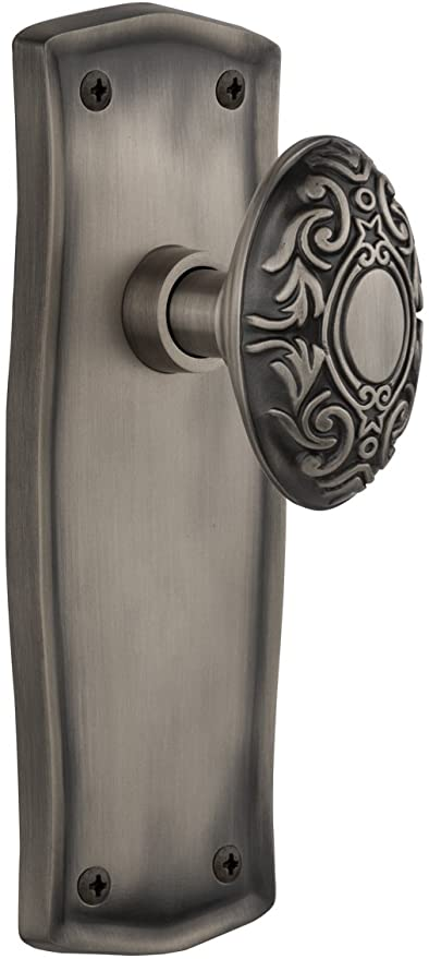 Antique Pewter 2.375 Privacy Nostalgic Warehouse Prairie Plate with Victorian Knob