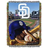 "The Northwest Company MLB San Diego Padres Home Field Advantage Woven Tapestry Throw, 48"" x 60"""