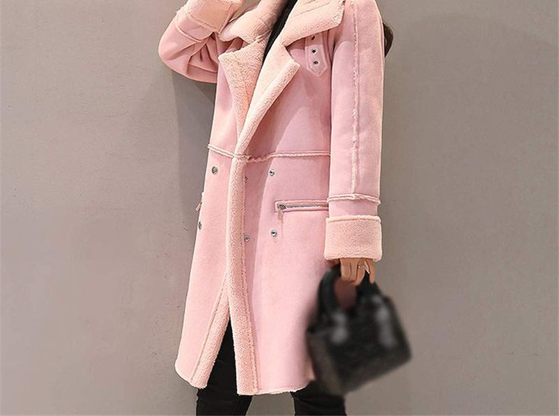 New 2018 Winter Women Suede Coats Jacket Thicken Coat Female Casual Warm Long Sleeve