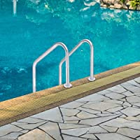 Goplus Swimming Pool Ladder for In Ground Pools Heavy Duty 3-Step Stainless  Steel Pool Step Ladder with Easy Mount Legs