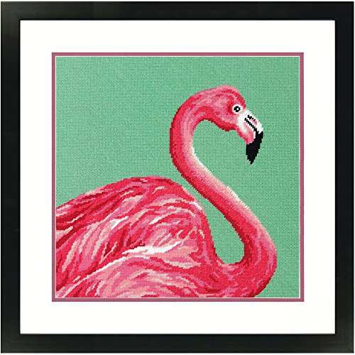 Dimensions Pink Flamingo Needlepoint Kit, 14'' x 14''