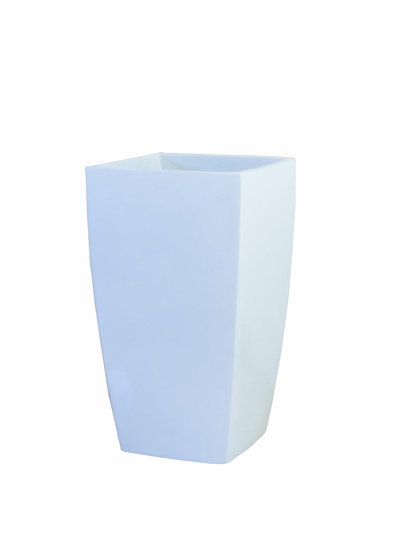 大和プラスチック 鉢カバー&ポット アーバンポットAL型 底面穴あき加工済み 420×420×H700 AL-42 ホワイト B006OFRU80  ホワイト AL-42