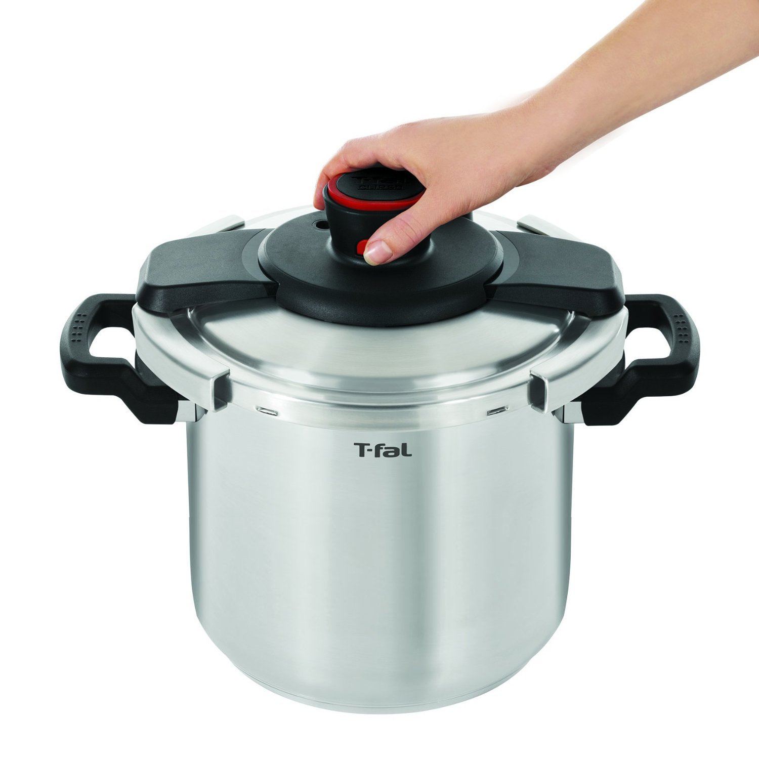 T-fal P45009 Clipso Stainless Steel Dishwasher Safe PTFE PFOA and Cadmium Free 12-PSI Pressure Cooker Cookware, 8-Quart, Silver by T-fal (Image #6)