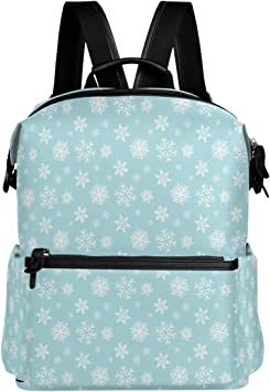 Laptop Backpack Lightweight Waterproof Travel Backpack Double Zipper Design with Painted Dog Head And Christmas Hat School Bag Laptop Bookbag Daypack for Women Kids