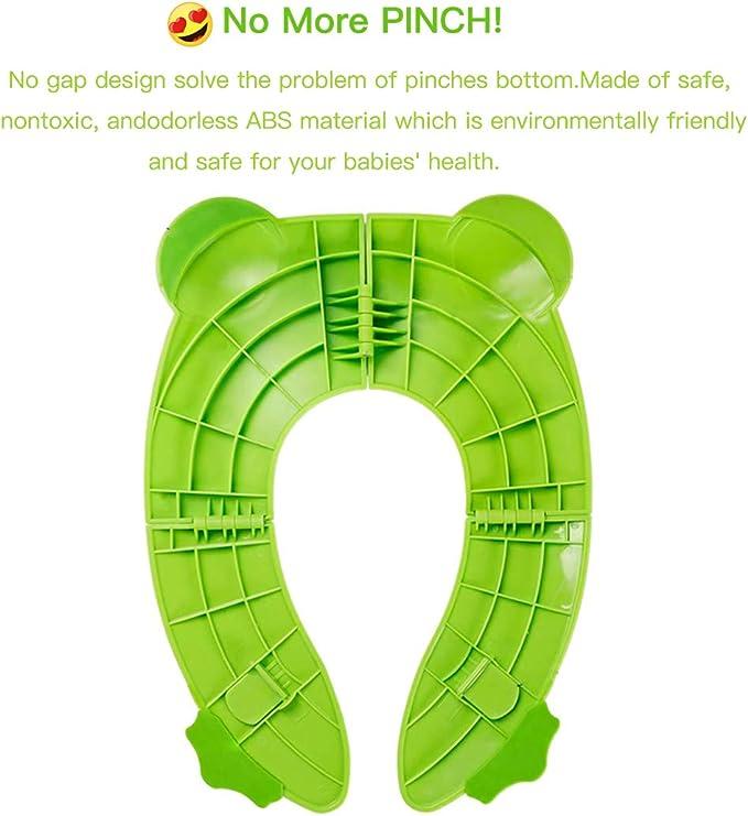 sac inclus Weekcanss Toilette pliante pour enfants Si/ège dapprentissage pour b/éb/és//enfants Si/ège de toilette rabattable avec 4 morceaux de silicone antid/érapant-10 Si/ège de toilette jetable