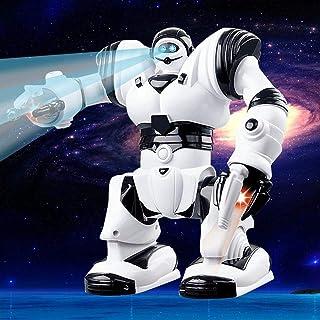 heresell Mini Robot Elettrico Giocattolo educativo per Bambini Robot Elettrico con Acousto - Effetto Ottico Can Walk